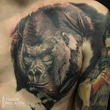 тату с изображением гориллы значение эскизы фото и цены сколько