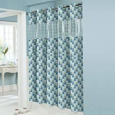 bathroom stunning hookless shower curtain with snap liner for regarding size 1500 x 1500 hookless fabric shower curtain with snap liner a stall shower cu