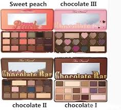too faced makeup sweet peach chocolate bar eyeshadow palette 16 colors eyeshadow love heart