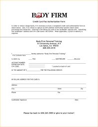 Credit Card Billing Authorization Form Template Automatic Payment