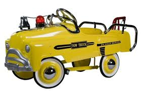 American Retro Deluxe Tow Truck Pedal Car - Yellow
