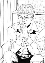 Small Picture 210 best Harry Potter coloring pages images on Pinterest Adult