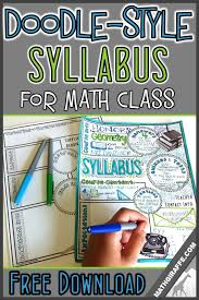 Syllabus For Math Class Doodle Style