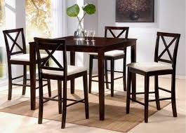 tall dining room tables. Contemporary Dinette Decoration With Dark Brown Finish Tall Dining Table Sets, Cross Back Side Chair Room Tables R