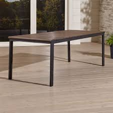 Metal and wood patio furniture Build Your Own Footymundocom Rocha Ii Rectangular Dining Table Reviews Crate And Barrel