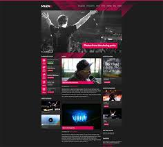 Music Website Templates Mesmerizing 28 Best HTML Website Templates For Bands Musicians Web Graphic