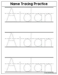 Letter Tracing Templates Tracing Name Template Practice Writing Letters Template Free
