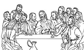 Small Picture Jesus Christ with 12 Disciples Last Supper Coloring Page Jesus