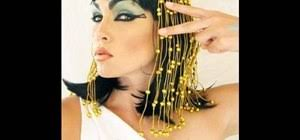 apply the cleopatra makeup look