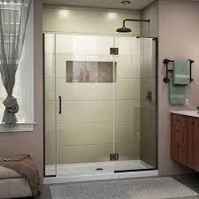 w x 72 h frameless hinged shower door