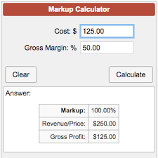 Markup Calculator