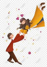 Cute Couple Png Winter Valentines Day Cute Couple Png Image_picture Free