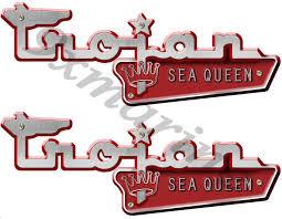 trojan boat parts trojan vintage sea queen boat plates remasterd decal
