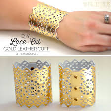 diy lace cut gold leather cuff cricut design space star free svg