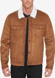levi s men s faux shearling trucker jacket with fleece lining