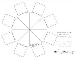 60 inch round table diagram
