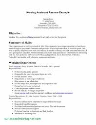 20 Resume Templates For Nursing Assistant Beautiful Of Cna Resume No