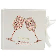 40th ruby wedding anniversary white red roses wrapping paper 2 sheets 1 gift bgc studios