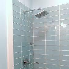 Bathroom Light Installation Lush 4x12 Vapor Light Blue Glass Subway Tile Glass Tile Shower
