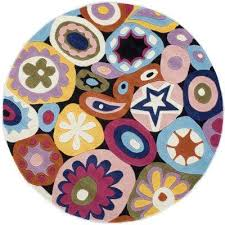 young buck collection multi 5 ft x 5 ft round area rug