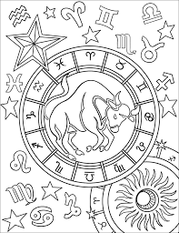 Some of the coloring pages shown here are zodiac astrological horoscope vector illustration stock vector. Taurus Zodiac Sign Coloring Page Free Printable Coloring Pages For Kids
