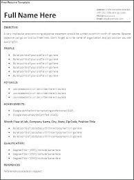 Stock Resume | Cvfree.pro