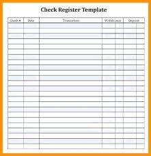 Bank Register Template Blank Check Printable Checkbook