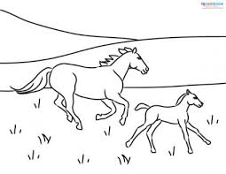 free colouring pages to print 2. Perfect Print Mother And Foal Running Free Coloring Page To Free Colouring Pages Print 2 P