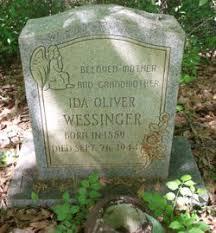 Ida Oliver Wessinger (1889-1944) - Find A Grave Memorial