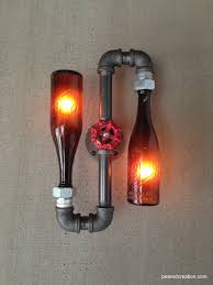 half life inspired vintage glass bottle craft lighting fixture