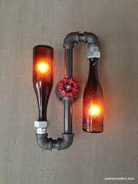 half life inspired vintage glass bottle craft lighting fixture