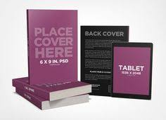 a beautiful presentation of paperback books mockup along with tablet to promote book design with reader