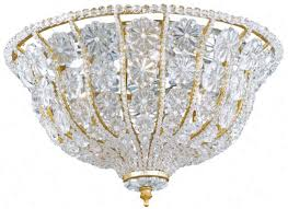 crystorama signature burnished gold finish ceiling light k0589