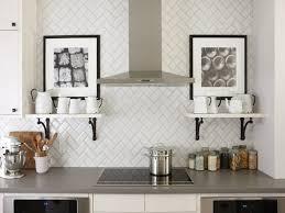 Modern Backsplash For Kitchen Good White Subway Tile Backsplash On Kitchen With Decoration In