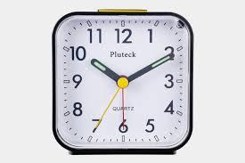 pluteck non ticking og alarm clock