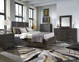 magnussen abington 4 piece panel storage bedroom set in weathered charcoal