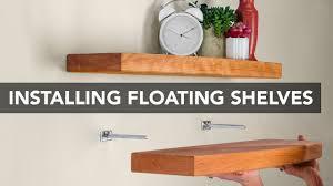 Easy To Install Floating Shelves Installing Blind Shelf Support Hardware YouTube 12