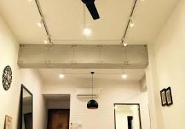 bedroom track lighting luxury living area shot from the floor concrete finished beams track lighting living room t0