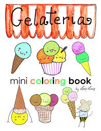Small Picture Gelato Ice Cream Coloring Book Printable Download 10 Pages of