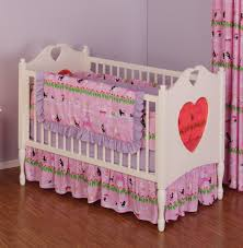 pink cotton crib or toddler bedding poodles in paris eiffel tower french theme