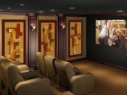 home theater acoustic wall panels. geometric acoustic panels for home theaters. \u201c theater wall a