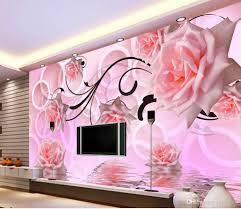 Flower Design Wallpaper 3d Wallpaper 3d Flower Rose 3d Stereo Tv Wall Design Window Mural Wallpaper Canada 2019 From Yeye2000 Cad 20 38 Dhgate Canada