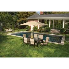 hanover patio furniture. Outdoor Furniture With Umbrella Singapore Patio Sets Hanover Lavallette 7 Piece Dining Set Table And W