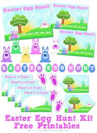 easter egg hunt template easter egg hunt kit free printables