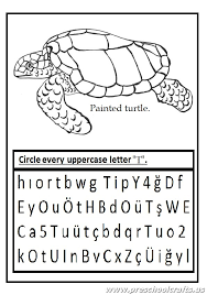 Uppercase letter T worksheet - Circle every big letter T ...