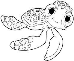 Finding Color Pages Squirt Nemo Coloring Page Kids Bruce The Shark