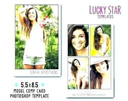 Composite Cards For Modeling Model Comp Card Template
