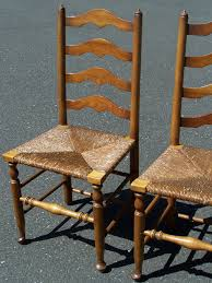 antique oak ladder back chairs image and candle