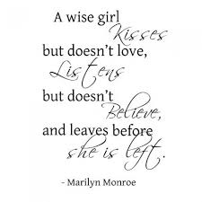 Girl Quotes And Sayings Custom A Wise GirlMarilyn Monroe Wall Quote Words Sayings Removable Wall