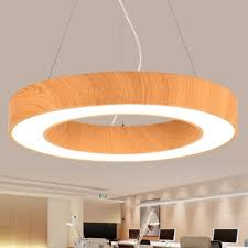 modern circle metal chandelier lighting glare control 15 75 23 62 31 50 wide wood grain round shaped hollow 40w 112w high output bedroom office study